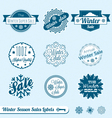 Winter sale labels vector