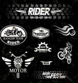 Motorcycle vintage labels set of emblems vector