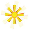 Windmill sun vector
