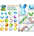 Set of sphere and bubble designs vector
