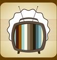 Tv old design vector