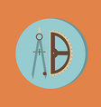 Compass and protractor education sign symbol icon vector