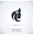 Beautiful woman logo vector