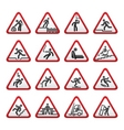 Warning hazard signs vector