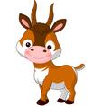 Fun zoo antelope vector