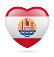 Heart icon of french polynesia vector