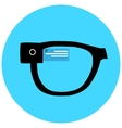 Smart hipster glasses icon vector