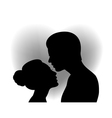 Couple with heart shaped background vector