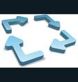 3d recycle arrows vector