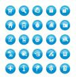 Web icons blue gloss vector