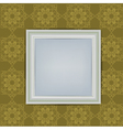 Blank white frame on wall vector
