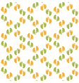 Seamless pattern with baby footprint vector