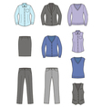 Business clothes set vector
