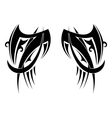 Graphic tribal tattoo wings vector