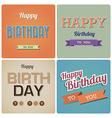 Vintage happy birthday card eps10 vector