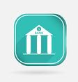 Bank building color square icon vector