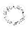 Round music frame vector