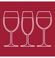 Wine glasses vector