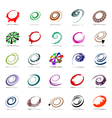 Spiral and rotation design elements vector