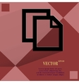 Blank paper flat modern web design on a flat vector