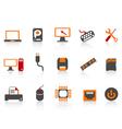 Computer equipment icon color series vector