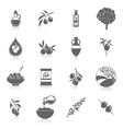 Olives icons black vector