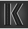 K letter road font vector
