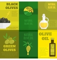 Olives mini poster set vector