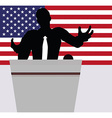 A businessman politician talking to crowd vector