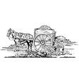 Horse cart vector