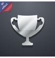 Winner cup icon symbol 3d style trendy modern vector
