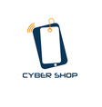 Cyber phone shop design template vector
