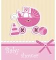 Baby shower - girl vector