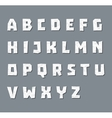 Alphabet in paper style vector