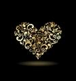 Floral heart shape vector