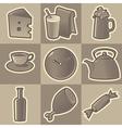 Monochrome food icons vector