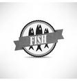 Vintage retro fish labels vector
