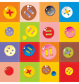 Multicolored buttons vector