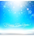 Blue christmas background with text vector