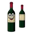 Cartoon wine bottle vector