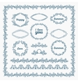 Ornate frames and borders page elements vector