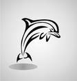 Tribal dolphin vector