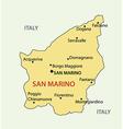 Republic of san marino - map vector
