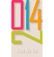 Happy new year 2014 postcard vector