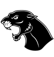 Black panther head vector