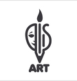 Logo creativity in theater music and painting vector
