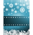 Blue background with snowflakes eps 8 vector