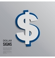 Dollar sign on grey background vector