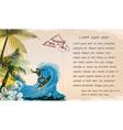 Grunge summer postcard vector