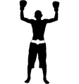 Boxer winner silhouette vector